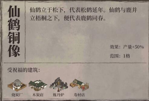江南百景图仙鹤铜像摆放攻略